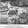 Rapperswil - Alter Zürichkrieg - Edlibach - Die Schwyzerische Flotte vor Rapperswil.jpg