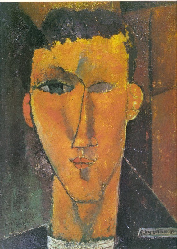 Raymond Radiguet by Modigliani, 1915, private collection
