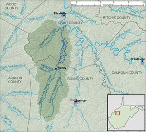 Reedy Creek (West Virginia) - Image: Reedy Creek WV map
