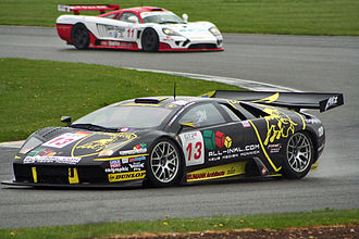 Lamborghini - A Murcielago R-GT participating in the FIA GT Championship at Silverstone in 2006
