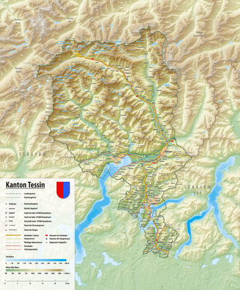 Map of the canton