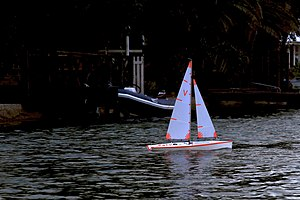 Radio-controlled boat - A mass-produced radio-controlled yacht