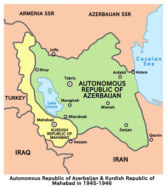 Republic of mahabad and iranian azerbaijan 1945 1946