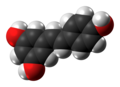 Resveratrol molecule spacefill from xtal.png
