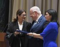 Reuven Rivlin is swearing in incoming Supreme Court President Esther Hayut at Beit HaNassi, October 2017 (5663).jpg