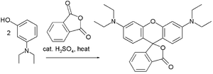 Rhodamine B - Rhodamine B synthesis