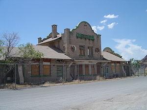 Las Vegas and Tonopah Railroad - Rhyolite railroad station (July 2006)