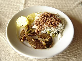 Rice and beans Type of dish made from a combination of staple foods in many cultures around the world