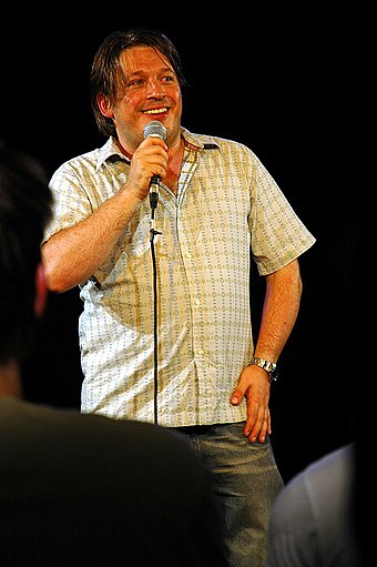 Richard Herring performing his show Someone Likes Yoghurt at the Pleasance Theatre, during the 2005 Edinburgh Festival Fringe Richard Herring.jpg