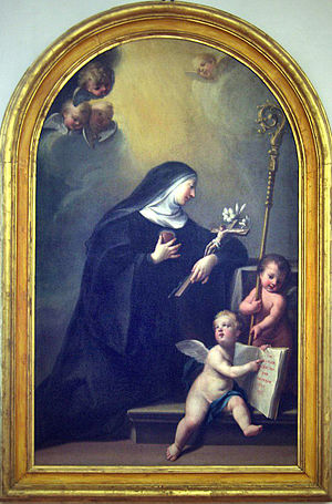 Saint Gertrude by Giovan Battista Costa