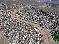 Aerial view of suburban Rio Rancho
