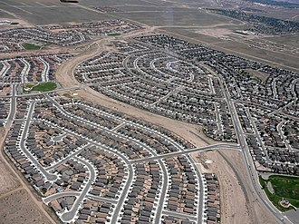 Rio Rancho, New Mexico - Aerial view of suburban Rio Rancho