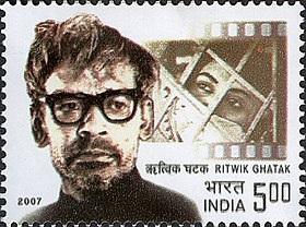 Ritwik Ghatak 2007 stamp of India.jpg