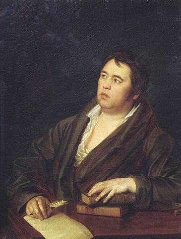 Волков Р. М. Портрет баснописца И.А.Крылова. 1812.