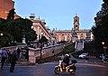 Rome, The Capitoline Hill cordonata leading from Via del Teatro di Marcello to Piazza del Campidoglio. (7102612971).jpg