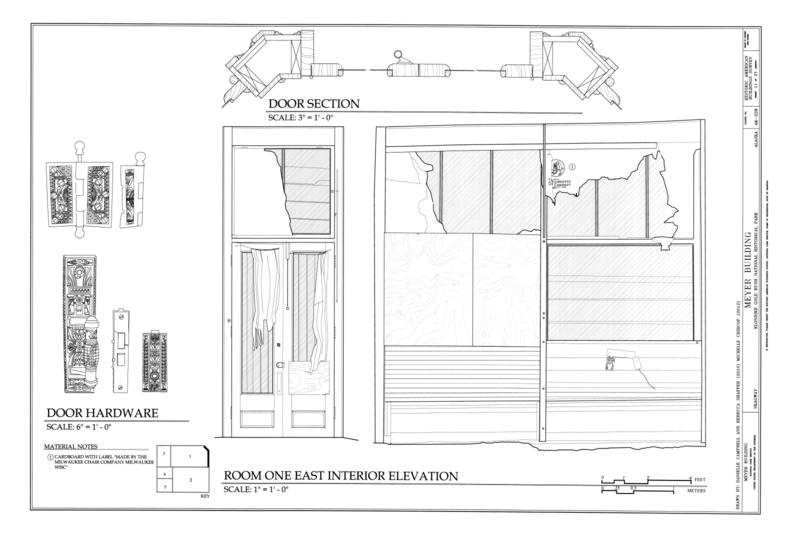 Front Elevation Of Living Room : File room one east interior elevation meyer meat market