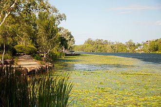 Townsville - The Ross River that runs through Townsville
