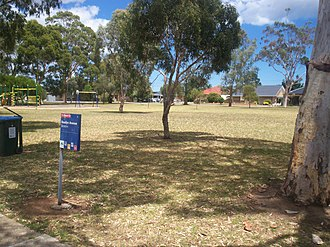 Clovelly Park, South Australia - Rosslyn Avenue Reserve, the largest public open area within Clovelly Park