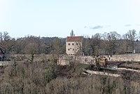 Rothenburg ob der Tauber, Alte Burg, Ringmauer, südöstlicher Abschnitt-20160108-001.jpg
