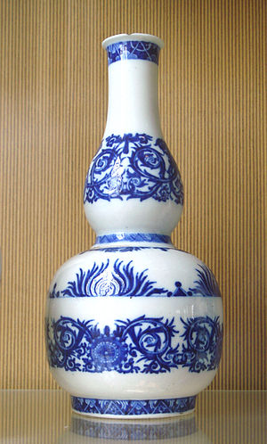 Rouen manufactory - Image: Rouen porcelain bottle end of the 17th century