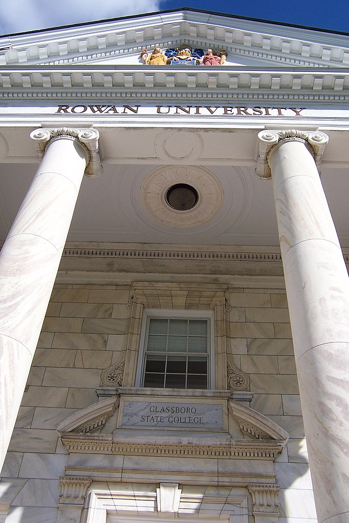 Grants For College >> File:Rowan University, Bunce Hall facade with two names ...