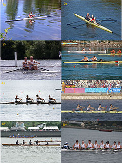 Rowing (sport) Sport where individuals or teams row boats by oar