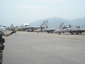 Malaysian Armed Forces - Sukhoi Su-30MKM Flankers, Mig-29s and Aermacchi MB-339s of the Royal Malaysian Air Force at Langkawi International Maritime and Aerospace Exhibition 2009