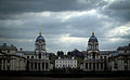 Royal Naval College seen from the Isle of Dogs.jpg