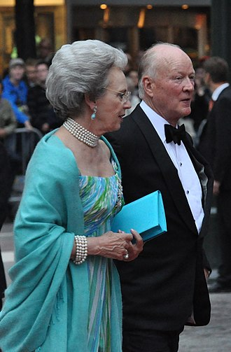 Sayn-Wittgenstein-Berleburg - Richard, 6th Prince of Sayn-Wittgenstein-Berleburg and his wife Princess Benedikte of Denmark (2010)