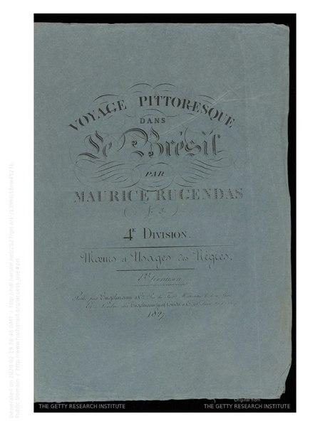 File:Rugendas - Voyage pittoresque dans le Brésil, fascicule 19, trad Golbéry, 1827.djvu