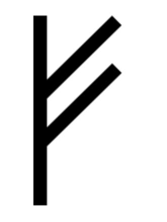 Elder Futhark - Image: Runic letter fehu