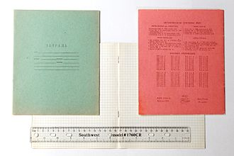 Graph paper - Image: Russian school graph paper