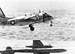 S-2D Tracker of VS-39 lands on USS Randolph (CVS-15) in 1966.jpg