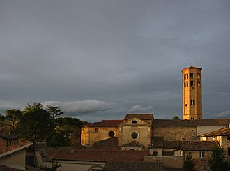 Faenza - The Church of Santa Maria ad Nives at Night