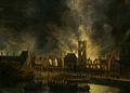 SA 40246-De brand van het oude stadhuis op de Dam (7 juli 1652).jpg