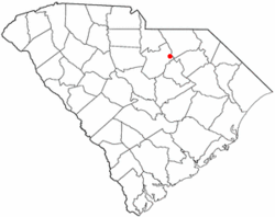 Location of Bethune, South Carolina