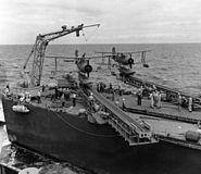 SOCs on cat of Brooklyn class cruiser 1943