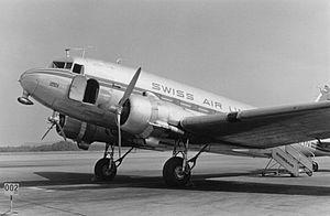 Swissair - Douglas DC-3 (1950s)