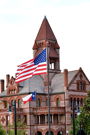 Sulphur Springs, Texas - Hopkins County Courthouse in downtown Sulphur Springs