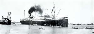 SS Maui (1916) - Maui, probably in port at Honolulu ca. 1920.