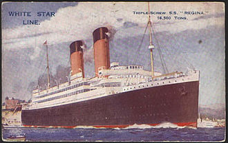 International Mercantile Marine Co. - The Regina sailed for the Dominion Line and White Star Line before being transferred to the Red Star Line under the name of Westernland.