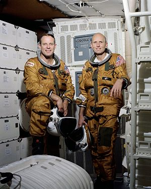 Jack R. Lousma - The STS-3 crew, left to right: Jack Lousma and C. Gordon Fullerton