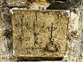Saint-Leu-d'Esserent (60), église Saint-Nicolas, moulage de graffiti (exposé au musée) 4.jpg