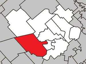 Saint-Lin–Laurentides - Image: Saint Lin–Laurentides Quebec location diagram