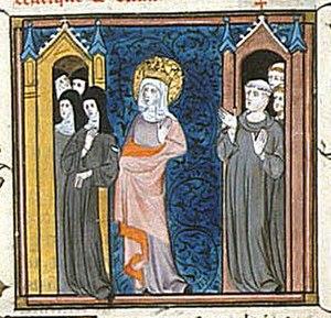 Balthild - A mediaeval depiction of Bathild