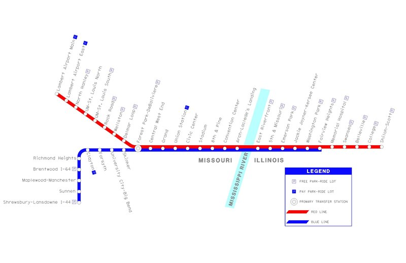 Saint Louis Metrolink Map