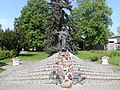 Saint Maximilian Maria Kolbe monument in Niepokalanów.jpg