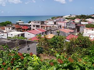 Sainte-Luce, Martinique - A view of Saint-Luce, with the Caribbean Sea in the background