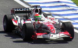 Sakon Yamamoto - Yamamoto driving the Super Aguri SA06 at the 2006 Brazilian Grand Prix where he set the 7th fastest lap of the race.