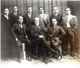 Salim Ali Salam - Salim Ali Salam with his sons